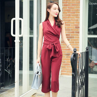 Sahadeal.vn - Set Jumpsuits Cổ V Fashion